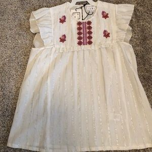 THML Striped Embroidered Top Size Medium